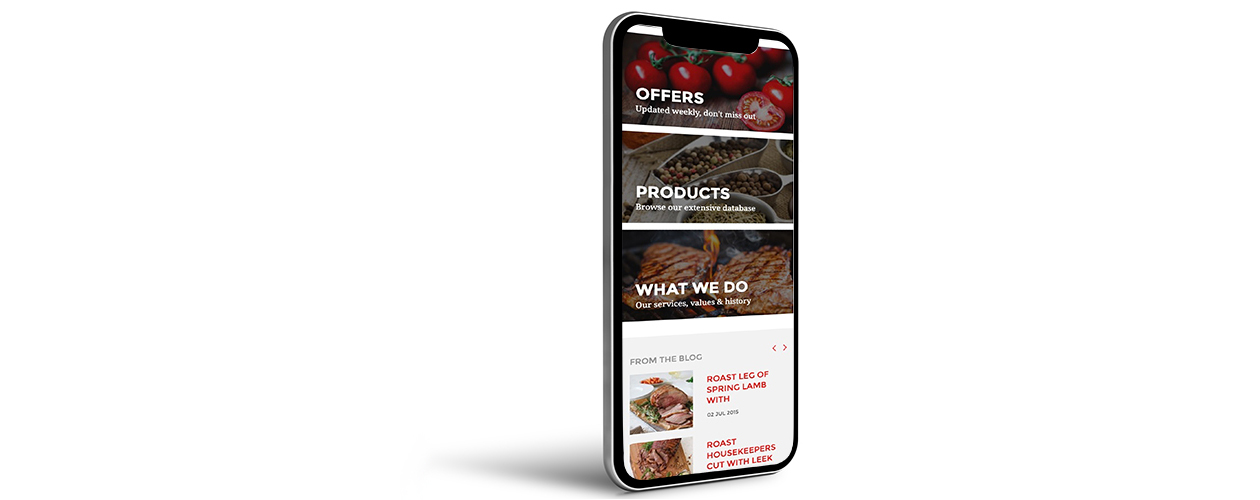 Pallas Foods B2B eCommerce platform is intuitive and responsive to mobile tablet and desktop ordering