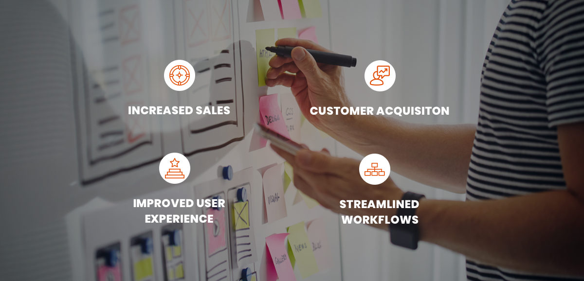 benefits of apex includes increase in sales, and customer acquisition; as well as improved user experience, and streamlined workflows