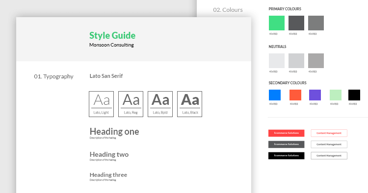 UI Style Guide Example